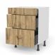 Meuble de cuisine - Casserolier - OKA Chêne - 3 tiroirs - L60 x H70 x P58 cm