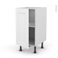 Meuble de cuisine - Bas - STATIC Blanc - 1 porte - L40 x H70 x P58 cm