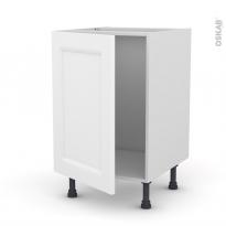 Meuble de cuisine - Sous évier - STATIC Blanc - 1 porte - L50 x H70 x P58 cm