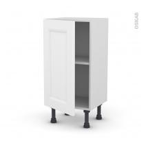 Meuble de cuisine - Bas - STATIC Blanc - 1 porte - L40 x H70 x P37 cm