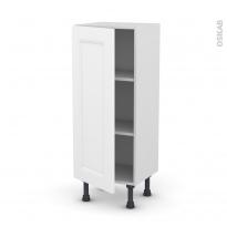 Meuble de cuisine - Bas - STATIC Blanc - 1 porte - L40 x H92 x P37 cm