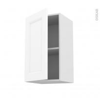 Meuble de cuisine - Haut ouvrant - STATIC Blanc - 1 porte - L40 x H70 x P37 cm