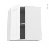 Meuble de cuisine - Angle haut - STATIC Blanc - 1 porte N°19 L40 cm - L65 x H70 x P37 cm