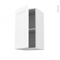 Meuble de cuisine - Haut ouvrant - STATIC Blanc - 1 porte - L40 x H92 x P37 cm
