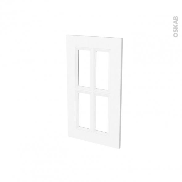 Façades de cuisine - Porte N°83 vitré - STATIC Blanc - L40 x H70 cm