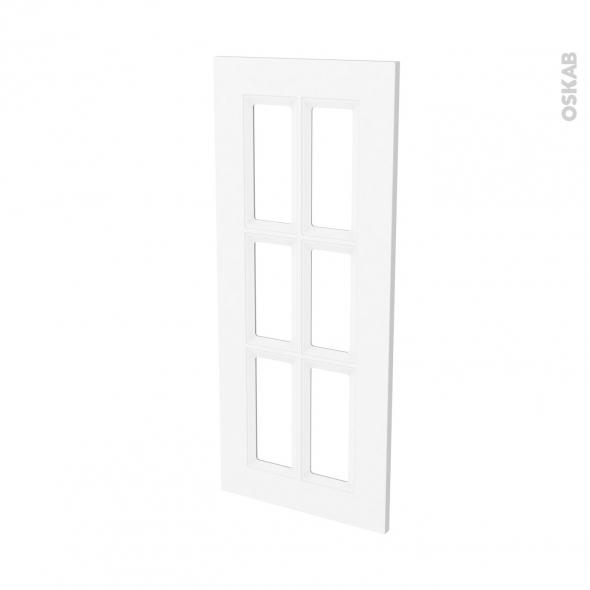 Façades de cuisine - Porte N°84 vitré - STATIC Blanc - L40 x H92 cm