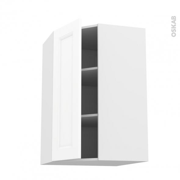Meuble de cuisine - Angle haut - STATIC Blanc - 1 porte N°23 L40 cm - L65 x H92 x P37 cm