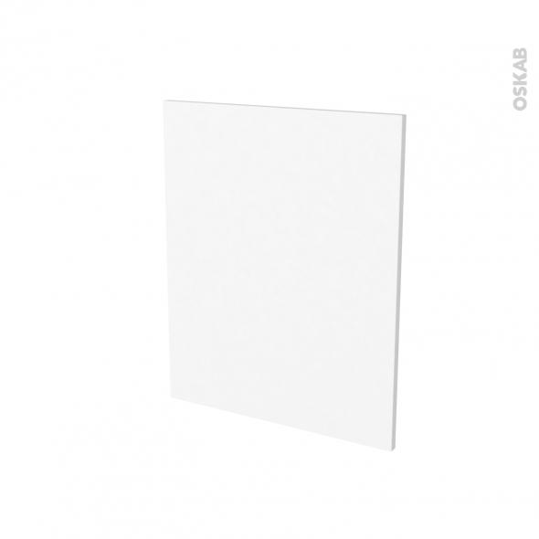 Finition cuisine - Joue N°29 - STATIC Blanc - Avec sachet de fixation - A redécouper - L58 x H57 x Ep.1.6 cm