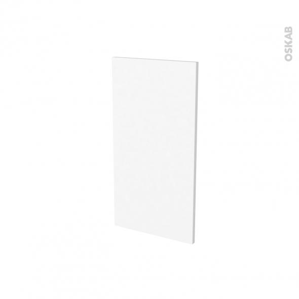 Finition cuisine - Joue N°30 - STATIC Blanc - Avec sachet de fixation - A redécouper - L37 x H35 x Ep.1.6 cm