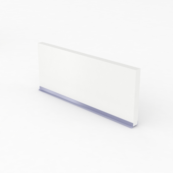 Plinthe de cuisine - STATIC Blanc - avec joint d'étanchéité - L220xH15,4