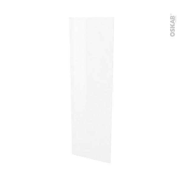 Finition cuisine - Joue N°88 - STATIC Blanc  - Avec sachet de fixation - L58 x H195 x Ep 1,6 cm