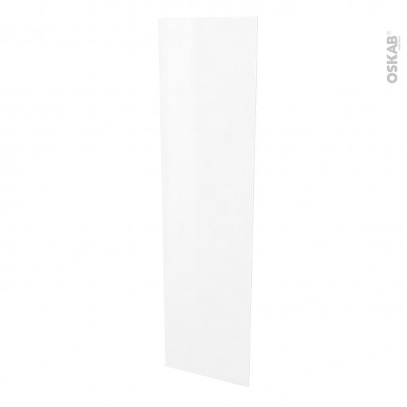 Finition cuisine - Joue N°89 - STATIC Blanc  - Avec sachet de fixation - L58 x H217 x Ep 1,6 cm