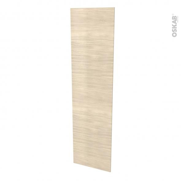 Finition cuisine - Joue N°89 - STILO Noyer blanchi  - Avec sachet de fixation - 2 parties - L58 x H217 x Ep 1,6 cm