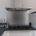 Fond de hotte cuisine - Inox - L90 x P65 x E1,1 cm - PLANEKO
