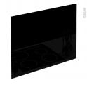 Fond de hotte cuisine - Verre Noir - L90 x H65 x E0,4 cm - PLANEKO