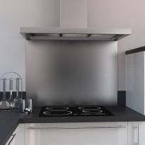 Fond de hotte cuisine - Inox - L60 x P65 x E1,1 cm - PLANEKO