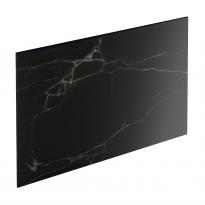Crédence de cuisine N°311 Décor Marbre noir Stratifié, L300 x H64 x E0.9cm, PLANEKO