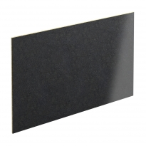 PLANEKO - Chant crédence N°15 - Granit Noir - L500xl1,3xE0,1cm