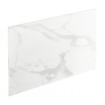 Chant crédence - Marbre blanc  N°308 - Bande de chant cuisine - L500 x l1.3 x E0.1 cm - PLANEKO