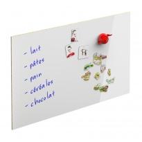 Crédence de cuisine N°62 - Décor Blanc Magnétique - L240 x H64 x E0,9 cm - PLANEKO