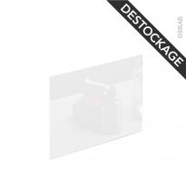 PLANEKO - Crédence N°603 - Verre Blanc - L60xH45xE0,4
