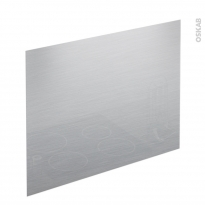 Fond de hotte cuisine - Verre finition Inox - L90 x H65 x E0,4 cm - PLANEKO