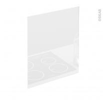 Fond de hotte cuisine - Verre Blanc - L60 x H65 x E0,4 cm - PLANEKO