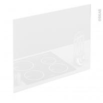 PLANEKO - Fond de hotte cuisine - Verre Blanc - L90xH65xE0,4cm