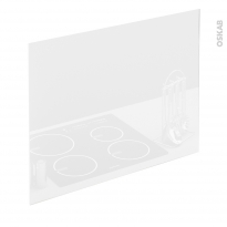 PLANEKO - Fond de hotte - Verre Blanc - L90xH65xE0,4