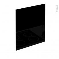 PLANEKO - Fond de hotte cuisine - Verre Noir - L60xH65xE0,4cm
