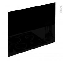PLANEKO - Fond de hotte cuisine - Verre Noir - L90xH65xE0,4cm