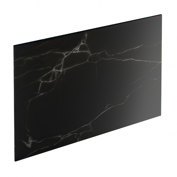 Chant crédence - Marbre noir N°311 - Bande de chant salle de bains - L500 x l1.3 x E0.1 cm - PLANEKO