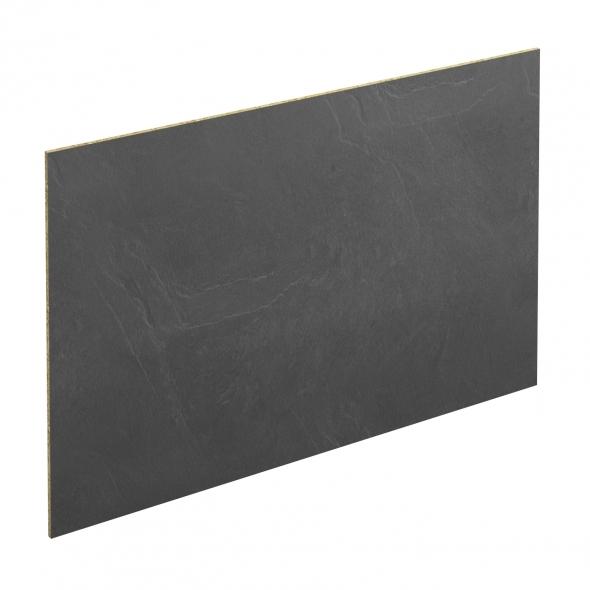 Crédence salle de bains N°304 - Décor Ardoise - Stratifié - L300 x H64 x E0,9 cm - PLANEKO