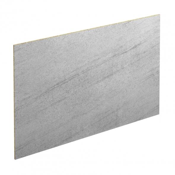 Crédence salle de bains N°305 - Décor Basalt gris - Stratifié - L300 x H64 x E0,9 cm - PLANEKO