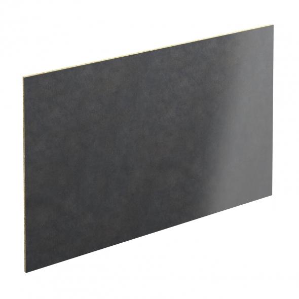 Crédence salle de bains N°501 - Décor Beton Gris - Stratifié - L300 x H64 x E0,9 cm - PLANEKO