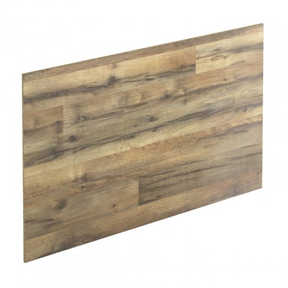 Crédence salle de bains N°208 - Décor Chêne authentique - Stratifié - L300 x H64 x E0,9 cm - PLANEKO