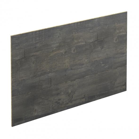 Crédence salle de bains N°210 - Décor Chêne noirci - Stratifié - L300 x H64 x E0,9 cm - PLANEKO