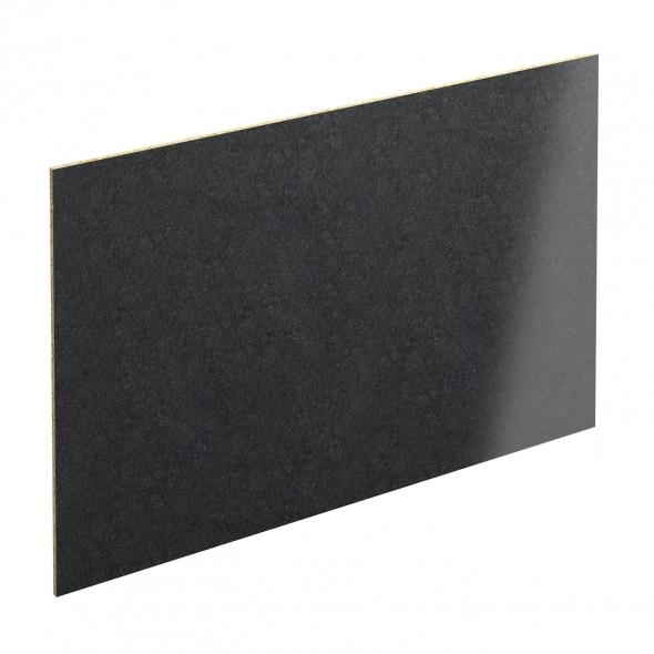 Crédence salle de bains N°303 - Décor Granit Noir - Stratifié - L300 x H64 x E0,9 cm - PLANEKO