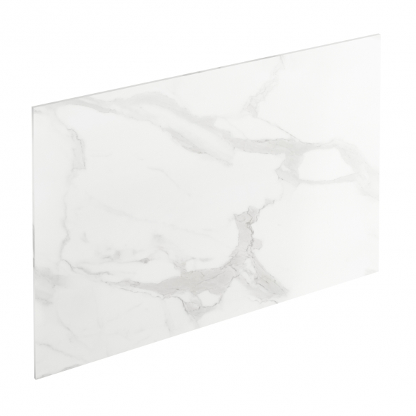 Crédence de cuisine N°308 - Décor Marbre blanc - Stratifié - L300 x H64 x E0.9cm - PLANEKO