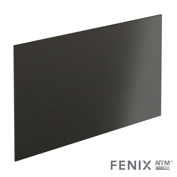 PLANEKO - Chant crédence N°37 - Noir Métal - L500xl1,3xE0,1cm