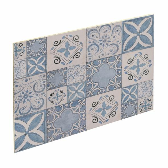 Crédence salle de bains N°604 - Décor Rosa - Stratifié - L300 x H64 x E0,9 cm - PLANEKO