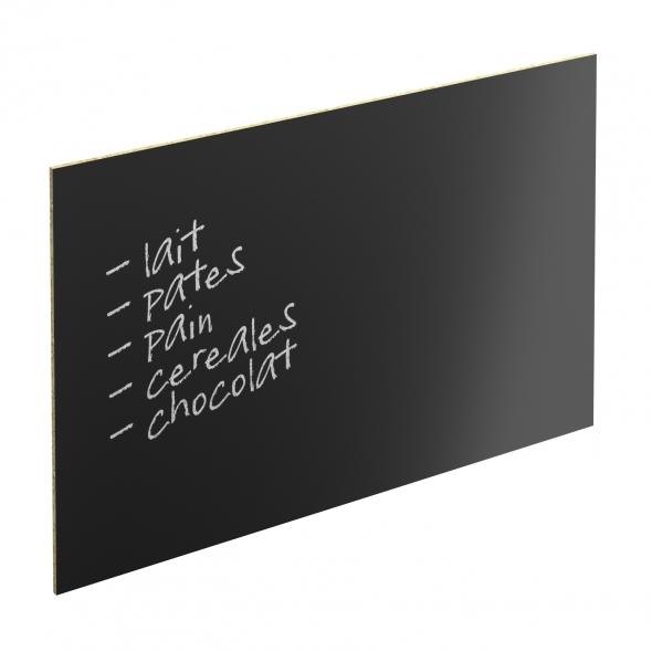 Crédence de cuisine N°61 - Tableau Noir - L240 x H64 x E0,9 cm - PLANEKO