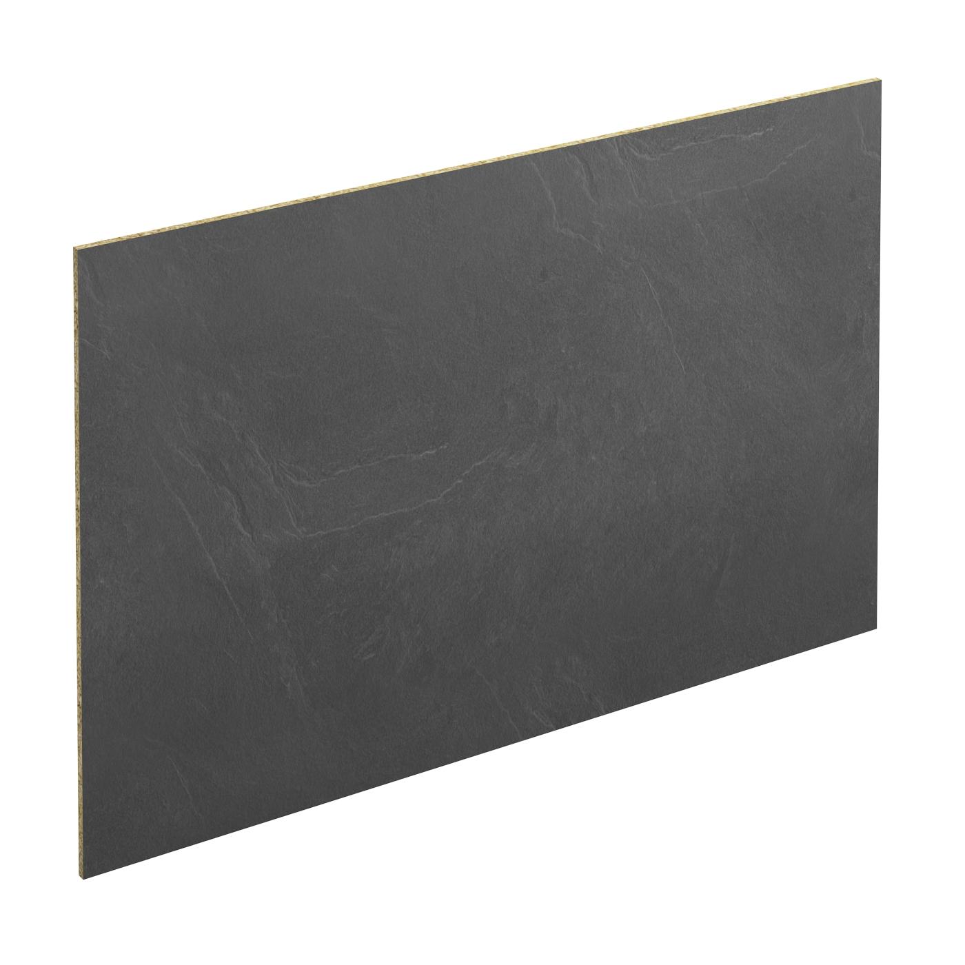 Coller Des Ardoises Entre Elles crédence de cuisine n°304 décor ardoise stratifié, l300 x h64 x e0,9 cm,  planeko