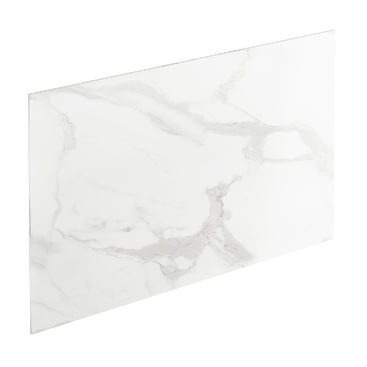 Credence Cuisine Marbre Blanc crédence de cuisine n°308 décor marbre blanc stratifié, l300 x h64 x  e0.9cm, planeko