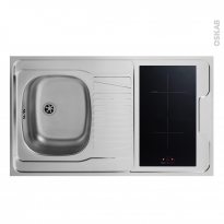 SOKLEO - Evier Kitchenette - Induction - L100xP60
