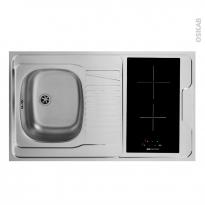 SOKLEO - Evier Kitchenette - Vitro + 4 sécurités - L100xP60