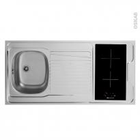 SOKLEO - Evier Kitchenette - Vitro + 4 sécurités - L120xP60