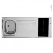 SOKLEO - Evier Kitchenette - Vitro + 4 sécurités - L140xP60