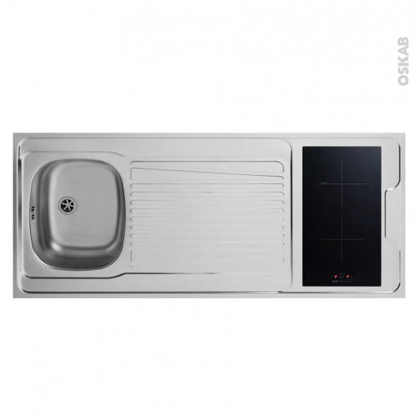 SOKLEO - Evier Kitchenette - Induction - L140xP60