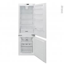 Réfrigérateur combiné 178cm - Intégrable 243L - Blanc - ROSIERES - BRBF174TFT/N